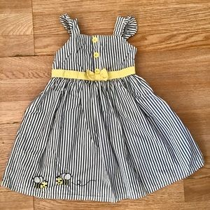 Gymboree stripped dress with bees detail.